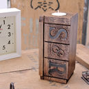 Personalised Wooden Initials Tealight Holder