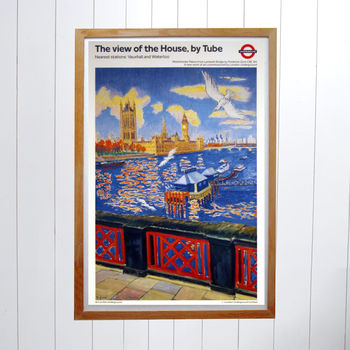 Original Houses Of Parliament London Underground Poster