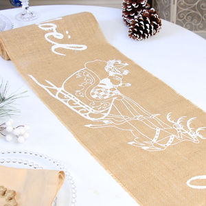 Country Christmas Joyeux Noel Table Runner Collection - table decorations