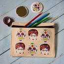 Frida Kahlo Zipped Pouch, Pencil Case, Make Up Purse