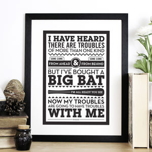 'Heard There Are Troubles' Dr Seuss Print - posters & prints