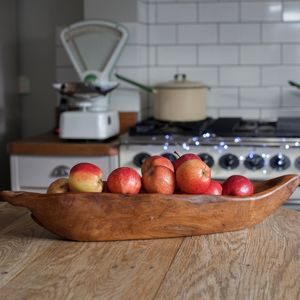 Hand Carved Wooden Bowl - serving dishes