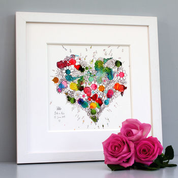 Personalised Blooming Heart Print