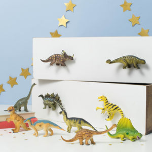 Dinosaur Bedroom Cupboard Drawer Knobs ~ Set Of Eight