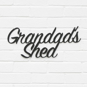 'Grandad's' Shed Metal Sign - gifts for grandparents