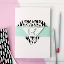 Personalised Diamond Notebook Set