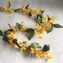 Artificial Forsythia Easter Garland