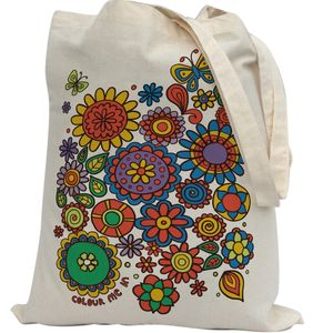 Colour In Flowers Tote Bag