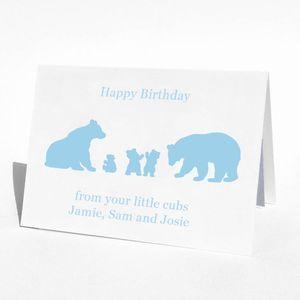 Birthday Bear Family Birthday Card