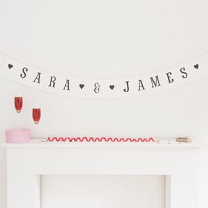Personalised Wedding Bunting Fishtail Font - bunting & garlands