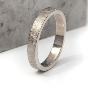 Textured Wedding Ring In Gold Or Platinum - wedding rings