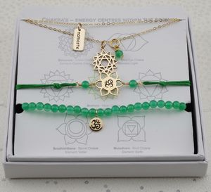 Heart Chakra Jewellery Set In Gold Or Silver