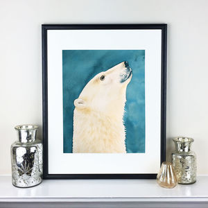 Original Watercolour Polar Bear Painting - paintings