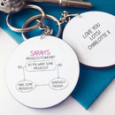 Personalised Prosecco Flowchart Keyring