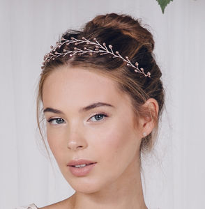 Boho Wedding Browband Or Tiara Leander - bridal hairpieces