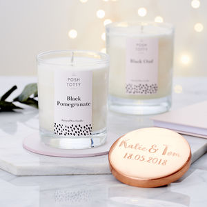 Large Personalised Essential Oil Candle