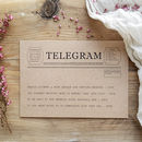Telegram Style Save The Date Card