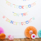 Personalised Make Your Own Phrases Garland 127 Pcs - christmas decorations