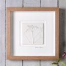 Cow Parsley Plaster Cast Tile In Oak Frame