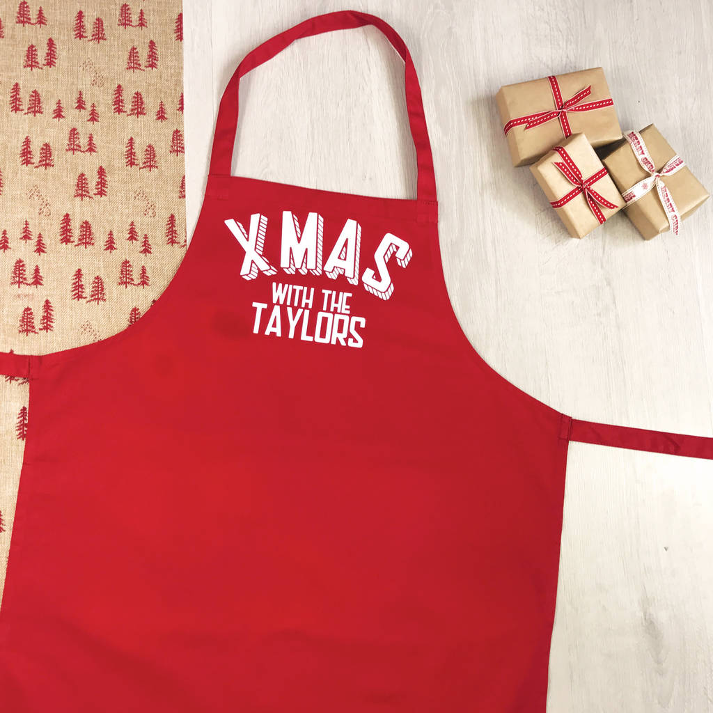 xmas with the personalised christmas apron - Christmas Apron