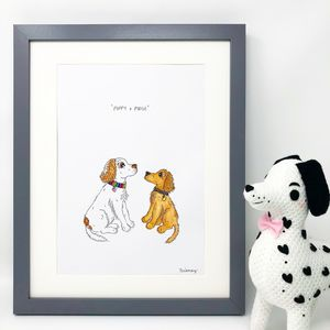 Personalised Pet Portrait Dog/Cat Print - canvas prints & art