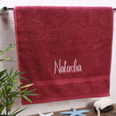 Personalised Boutique Luxury Hand Towel