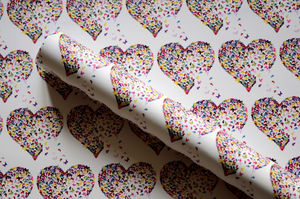 Butterfly Heart Gift Wrap - wrapping paper