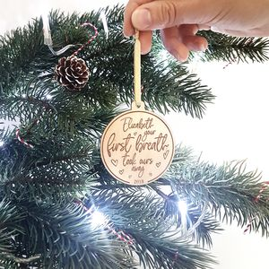 Babies 'First Breath' Christmas Personalised Decoration