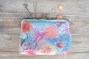 Faye Silk Clutch Bag - womens