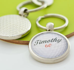 Personalised Golf Ball Keyring - new in fashion