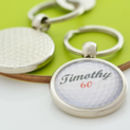 Personalised Golf Ball Keyring
