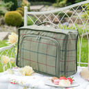 Personalised Green Tweed Tartan Cooler Bag And Blanket