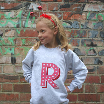 Personalised Kids Initial Sweatshirt