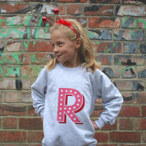 Personalised Kids Initial Sweatshirt - children's jumpers