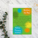 Personalised First Day At School A5 Card