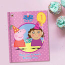 Peppa Pig: Birthday Party Pink Personalised Book
