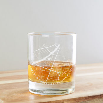 Personalised Map Whiskey Glass Father's Day Gift