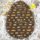 Personalised Large Chocolate Easter Egg Fish Design