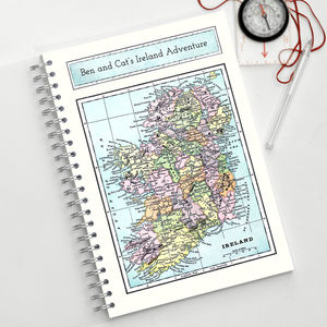 Map Of Ireland Travel Journal