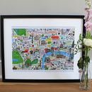 Central London Illustrated Map Print