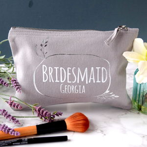 Personalised Bridesmaid Wreath Make Up Bag - what's new