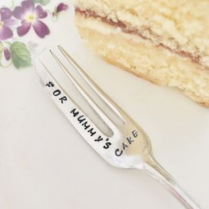 Personalised Silver Plated Vintage Cake Fork