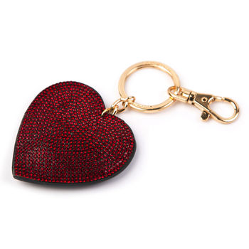 Red Sparkly Keyring