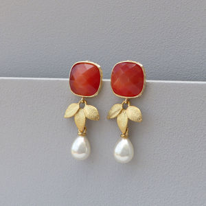 Giulia Pearl Drop Earrings