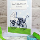'Pram' Personalised Baby Shower Card