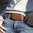 Reclaimed Fire Hose Slider Belt