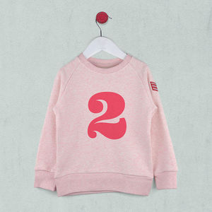 Age Two Sweatshirt Pink Or Blue