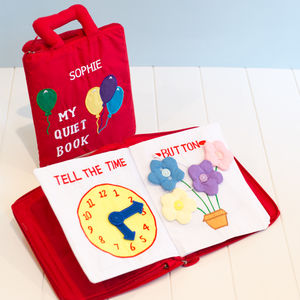 My Quiet Book Personalised - educational toys