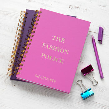 Personalised Fashion Police Notebook