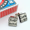 Personalised Birth Date Cufflinks